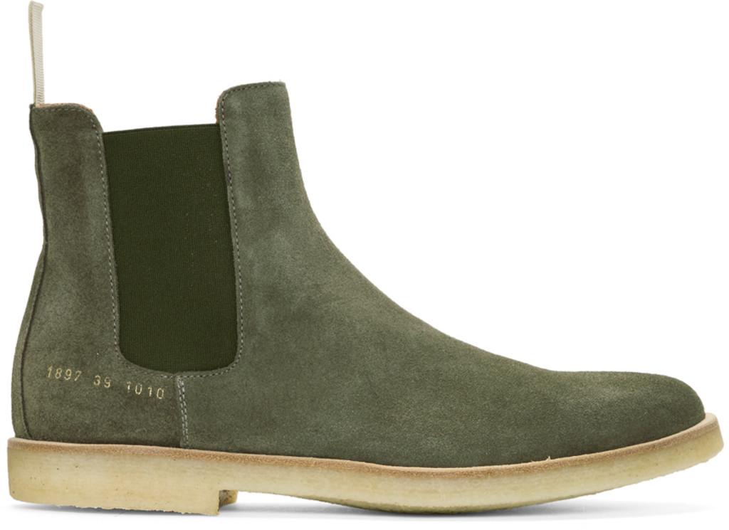 AMI Alexandre Mattiussi Black Suede Deconstructed Chelsea Boots