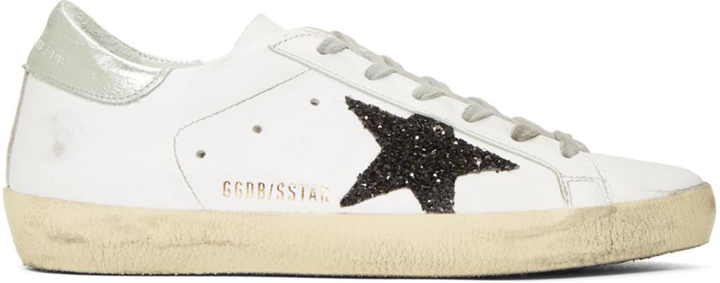 Dorateymur Silver & Red Glitter Slide High-Top Sneakers