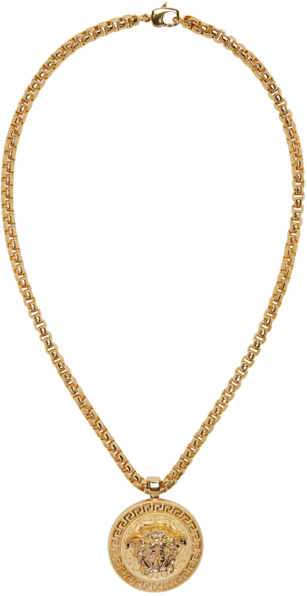 chain necklace medallion pave gold crystal product plated flower