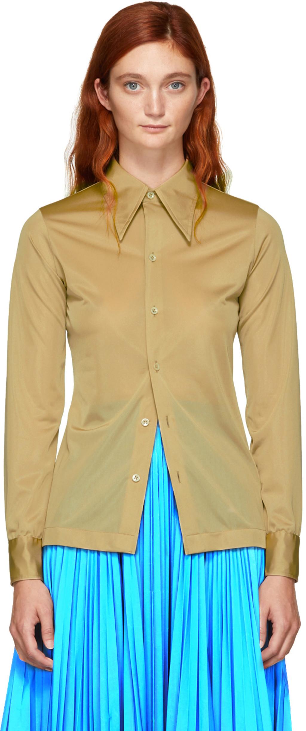 Maison Margiela For Women Fw18 Collection Ssense Mille Shopia Top Creme Beige L