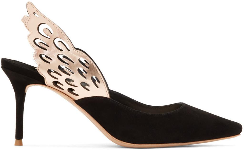 cc0f1a169e3ada ... Sophia Webster shoes for Women SSENSE great fit 32a1a e8ea8  Sophia  Webster Black Glitter Rosalind Crystal Sandals price in Dubai