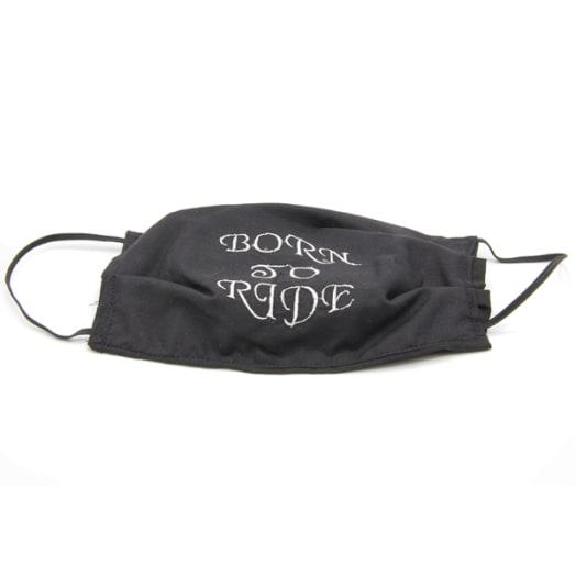 Cloth Mask - Born To Ride Text - Black