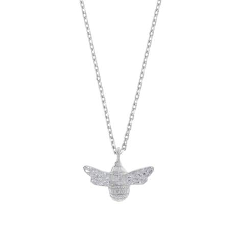 Estella Bartlett  Silver Bee Necklace