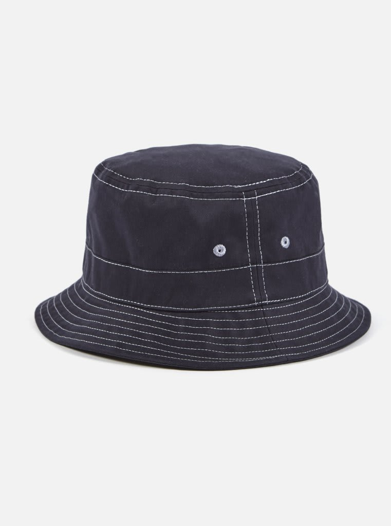 644eba0019b Trouva  In Navy Brisbane Drill Bucket Hat