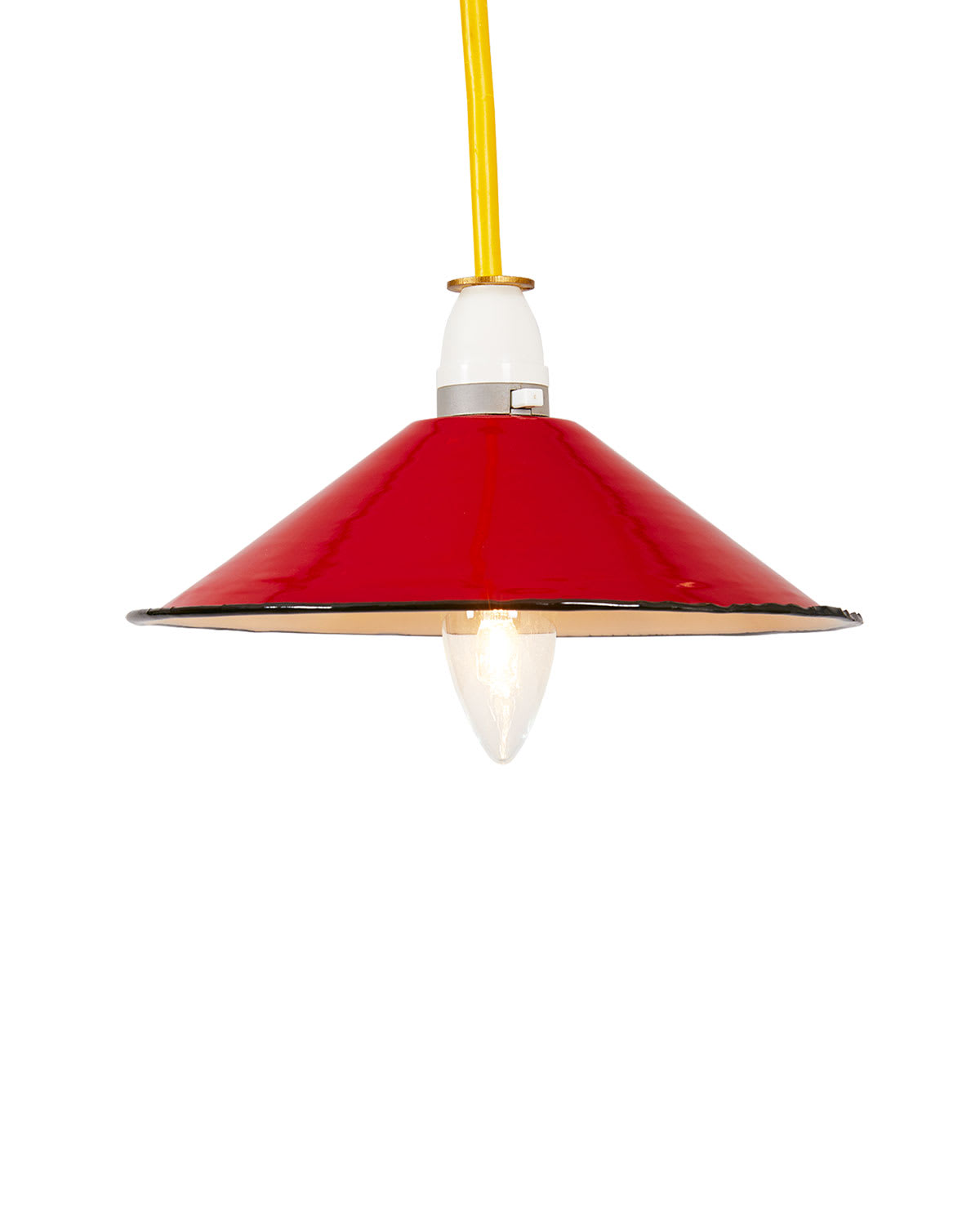 Ian Snow Small Red Enamel Lampshade