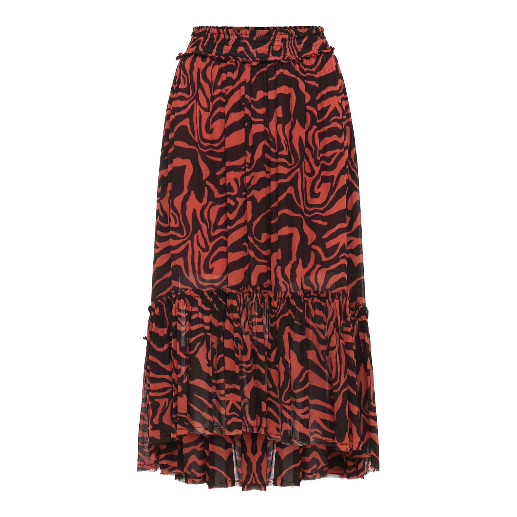 Rabens Saloner Jeannet Animal Print Skirt