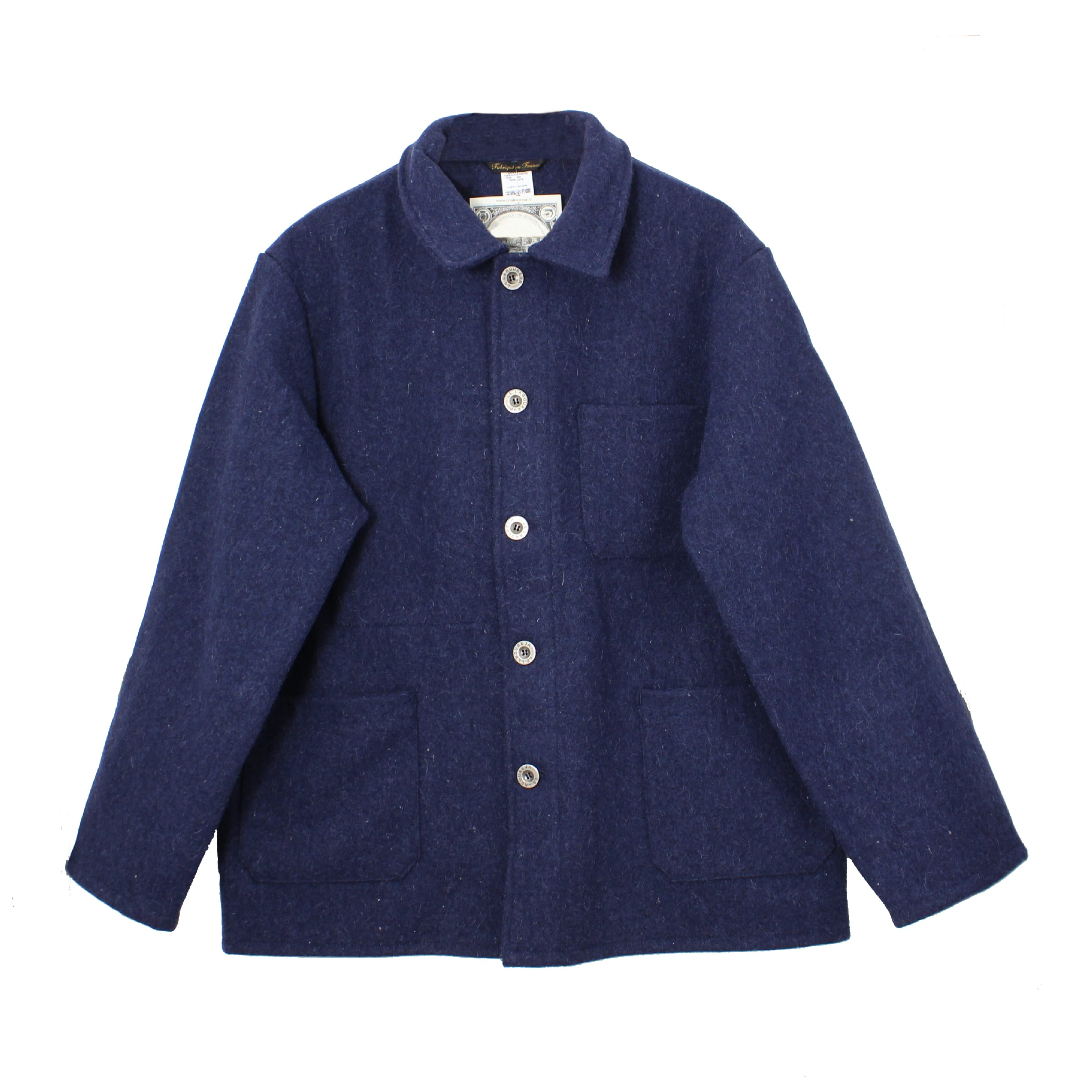 Le Laboureur Blue Wool French Workwear Jacket