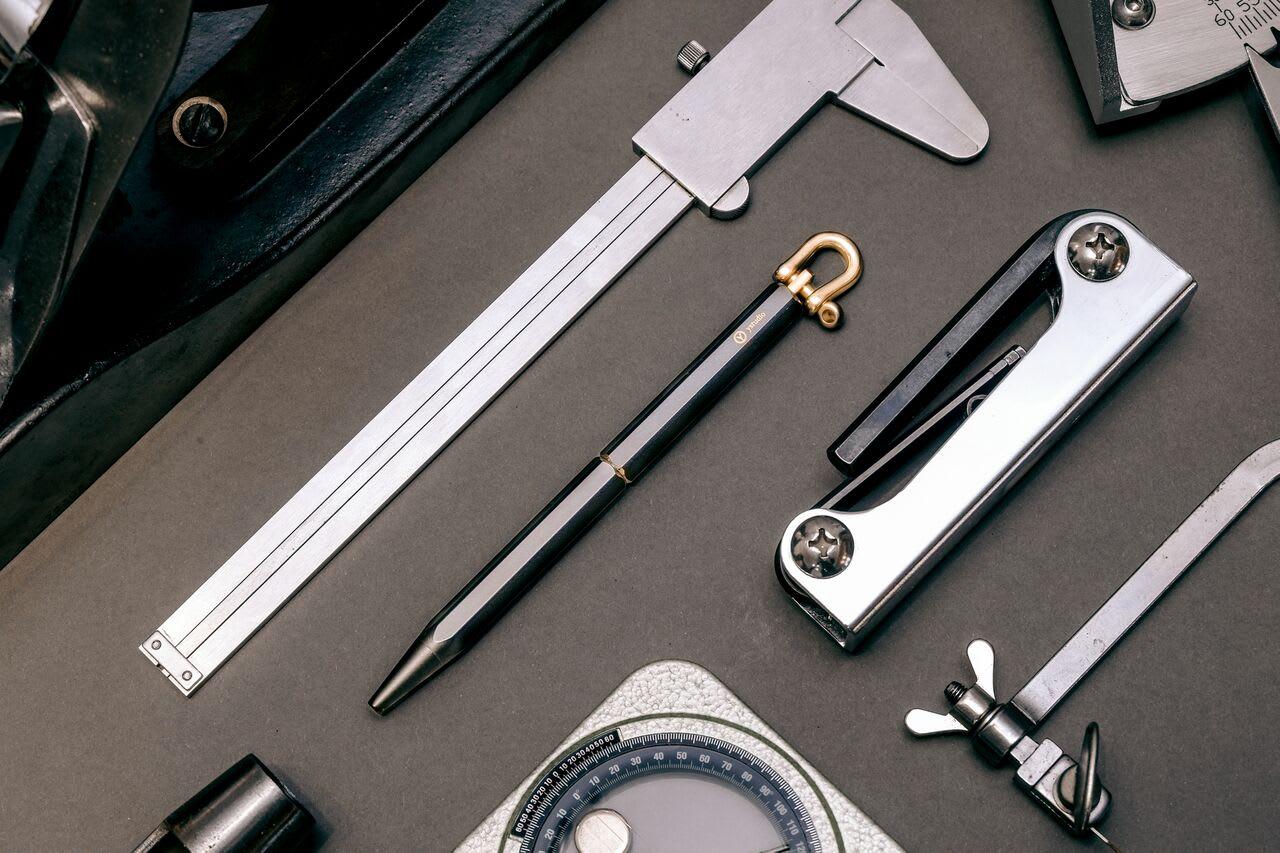 Ystudio Brassing Black Portable Ballpoint Pen