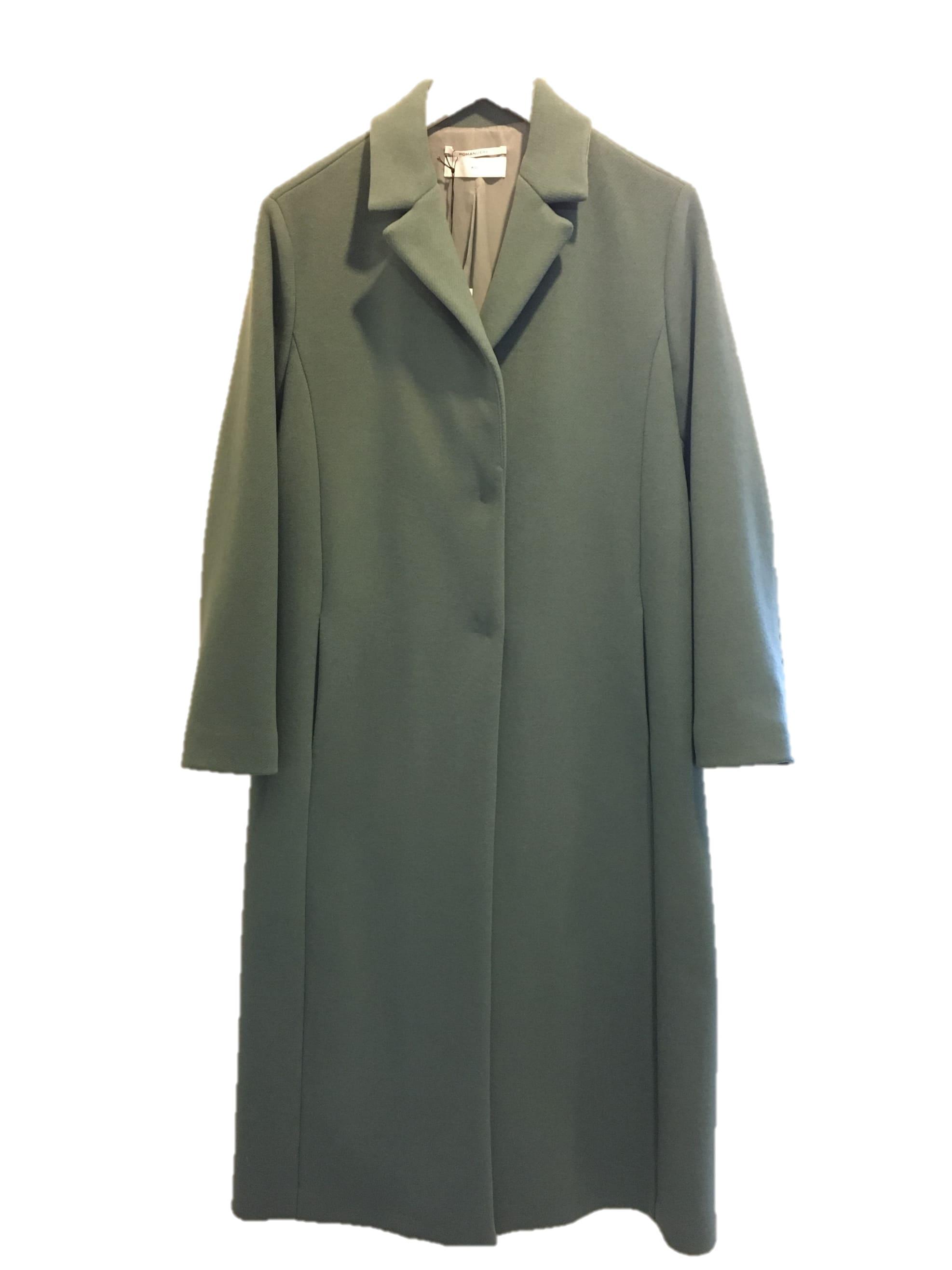 Pomandere Blue Full Length Wool Coat