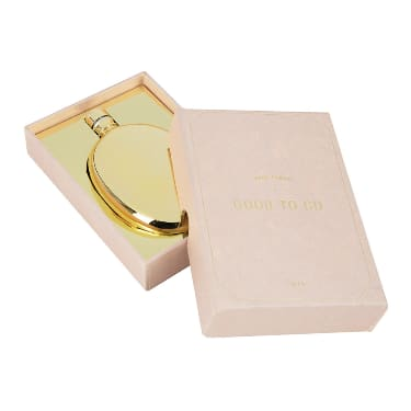Men's Society Gold Oval Flask