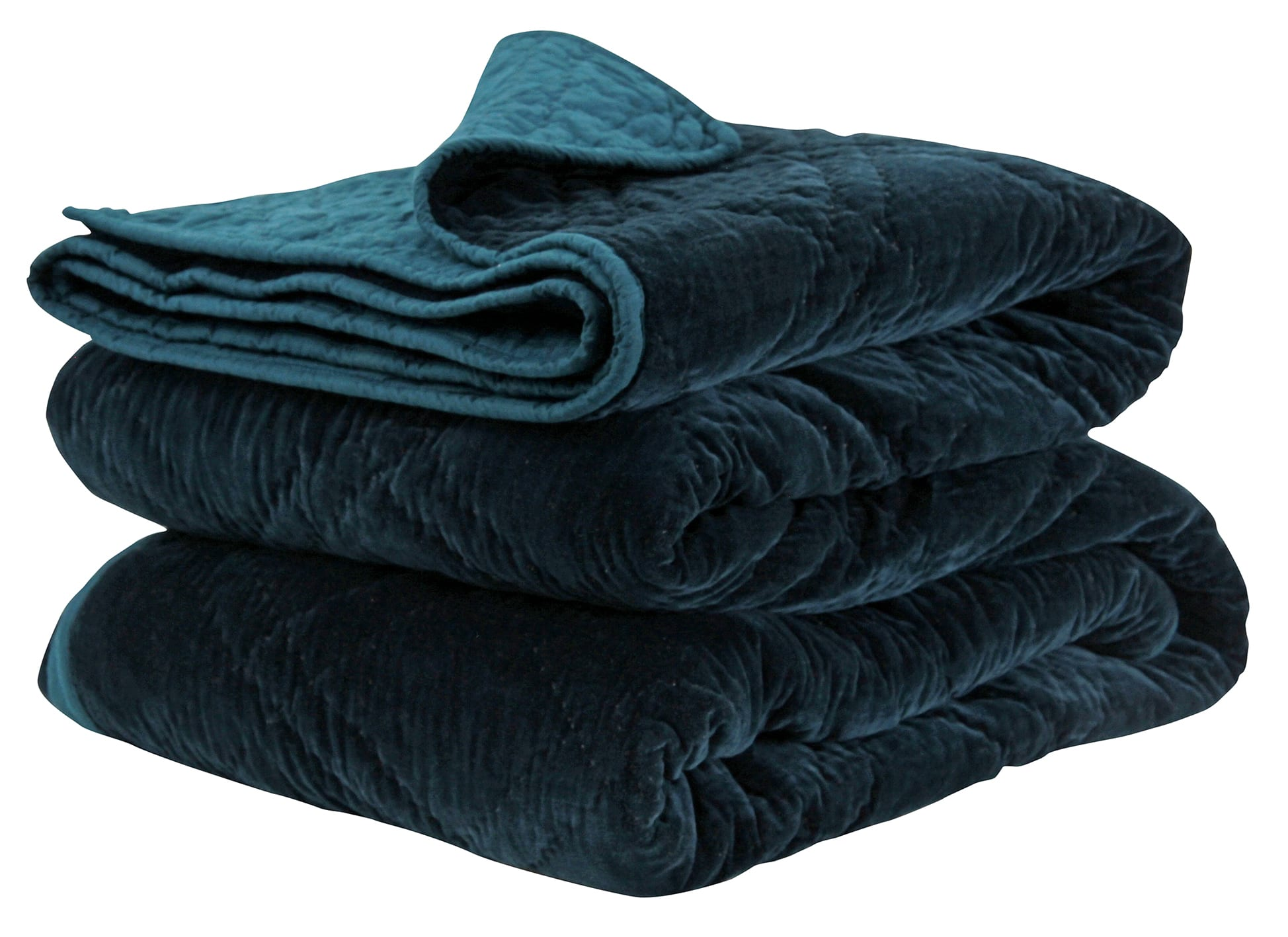 Wallace Cotton Large Peacock Plush Velvet Bedspread