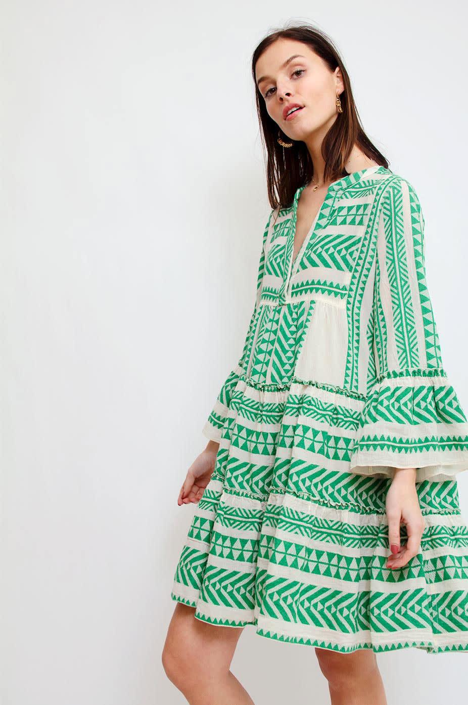 DEVOTION Green Devotion Embroidery Green Zakar Dress