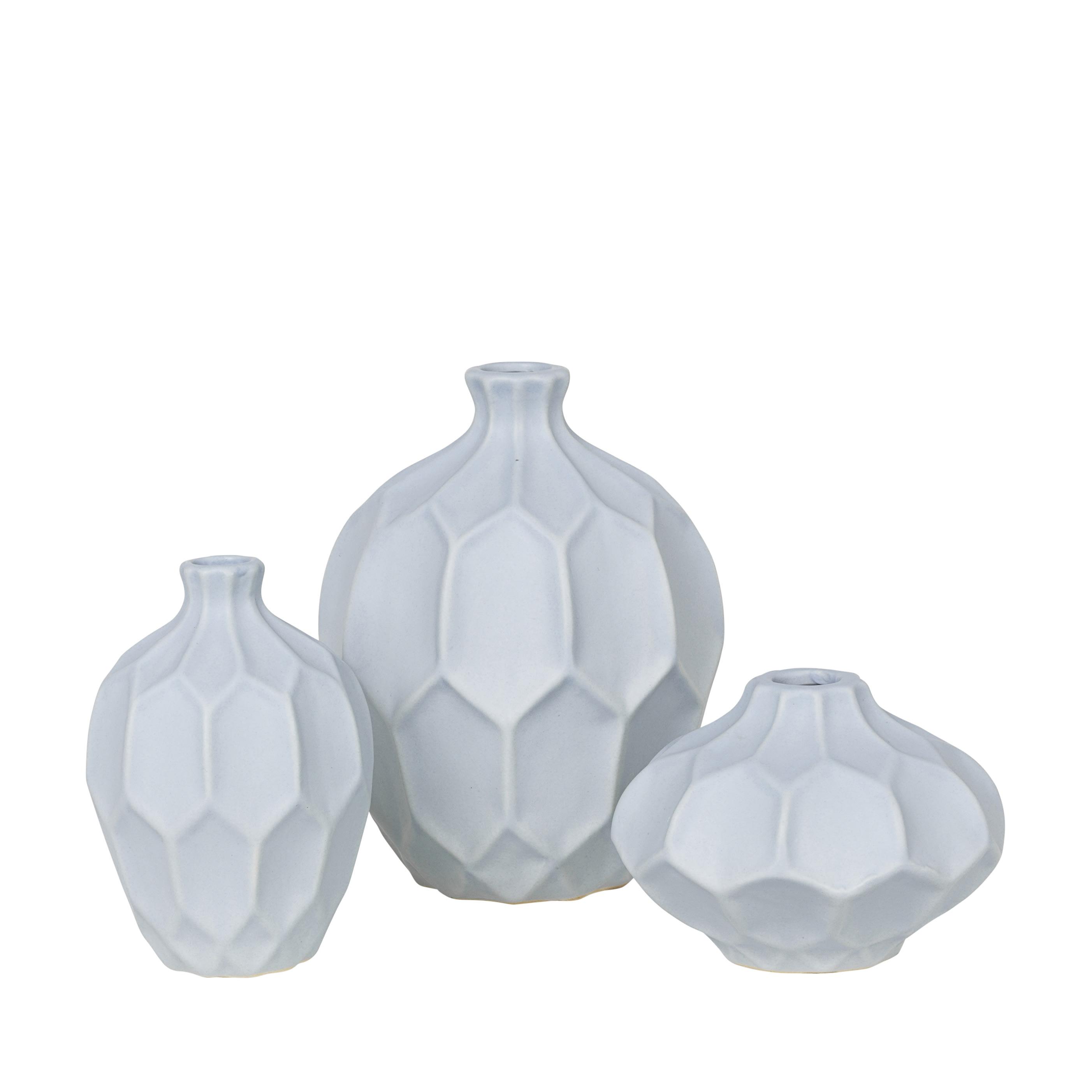 Broste Copenhagen Pale Blue Vase Set
