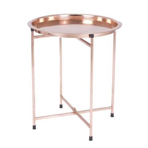 copper folding tray table