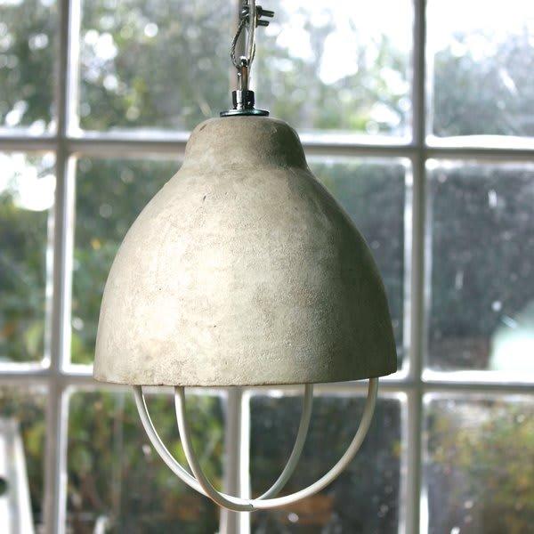 Serax Concrete Pendant Light With White Metal Cage
