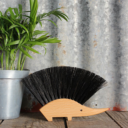 Hedgehog Wooden Table Brush