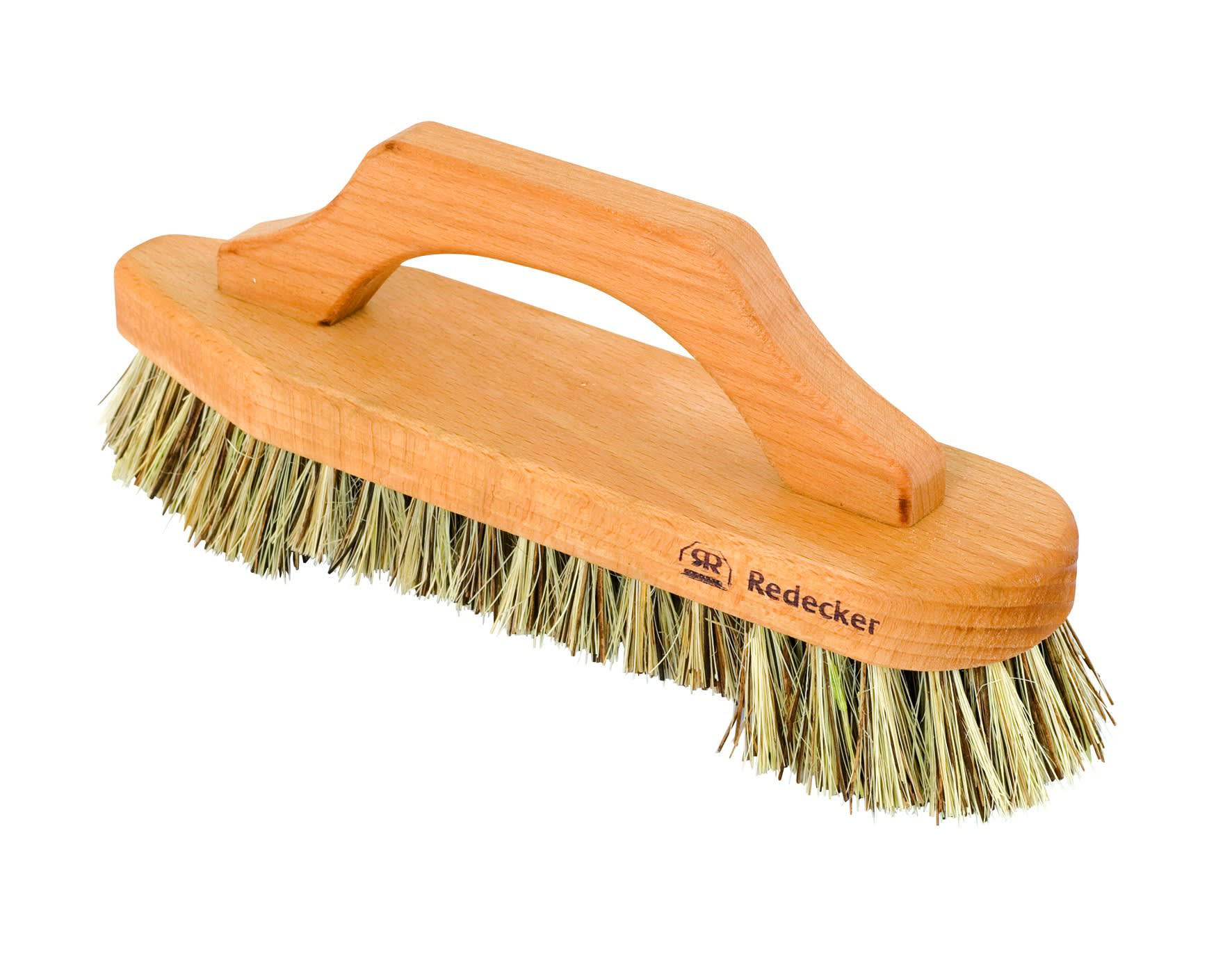 Redecker Wooden Scrub Brush With Oiled Bow Handle