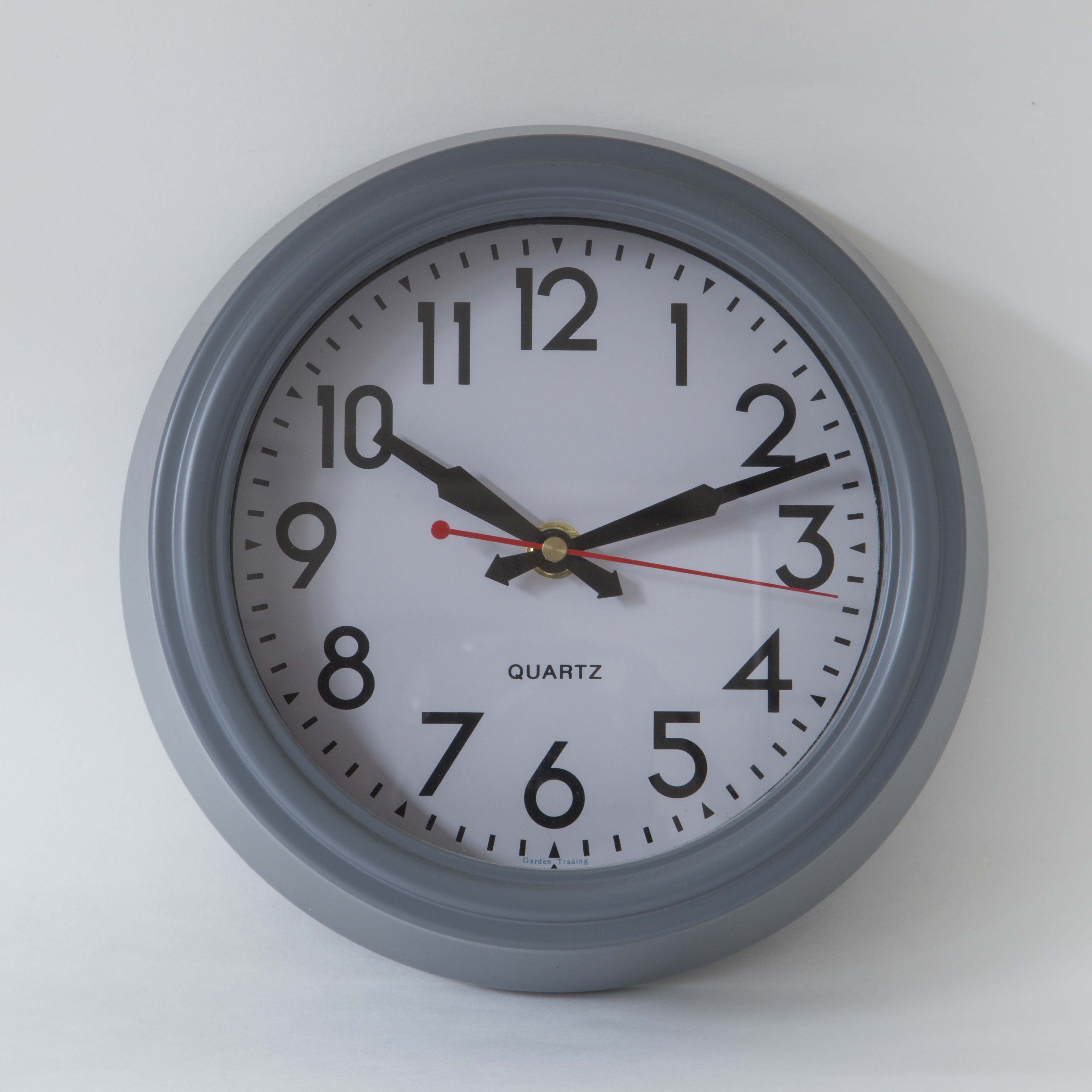 Garden Trading Small Charcoal  Wall Clock