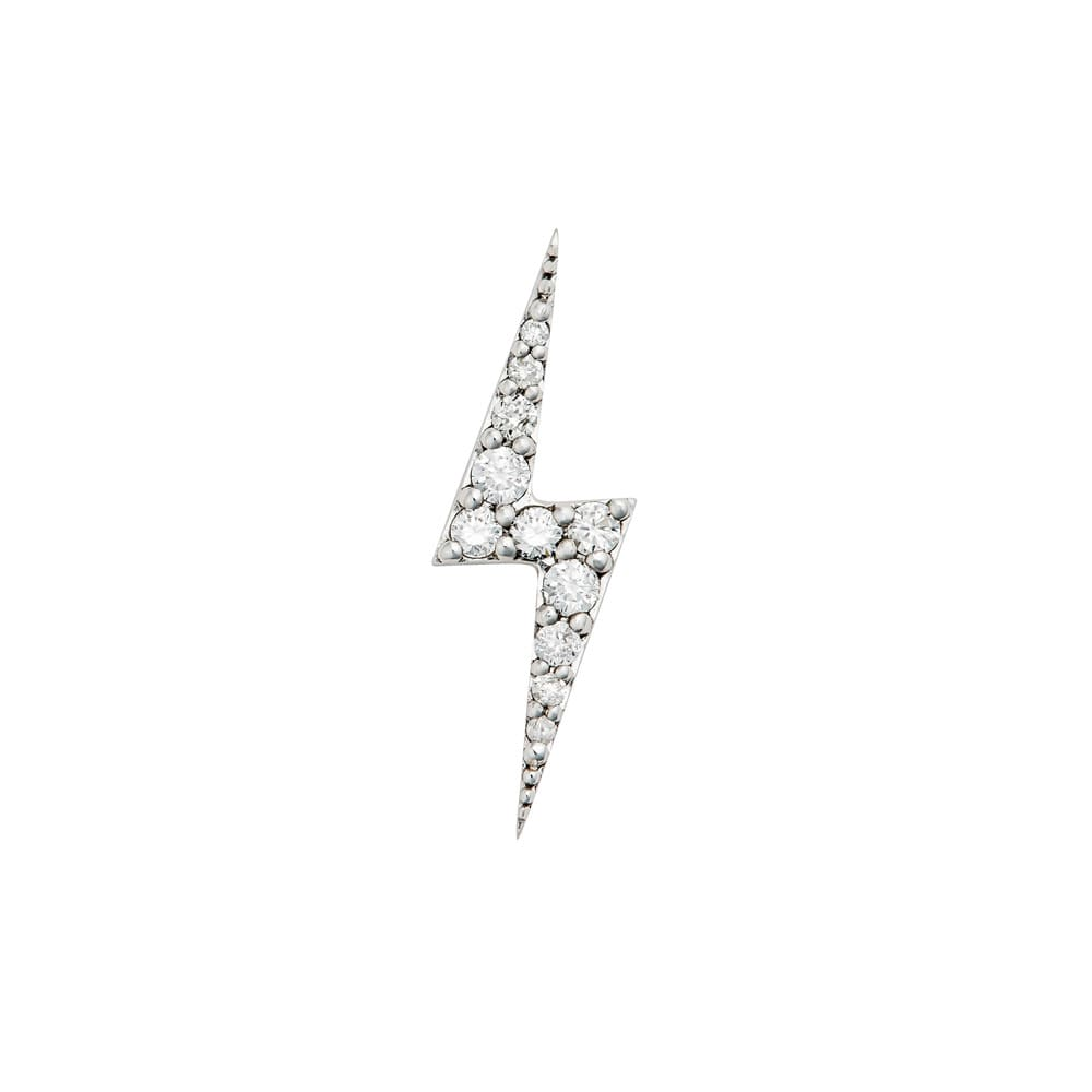 Zoe and Morgan  Zap White Gold Diamond Single Stud Earring
