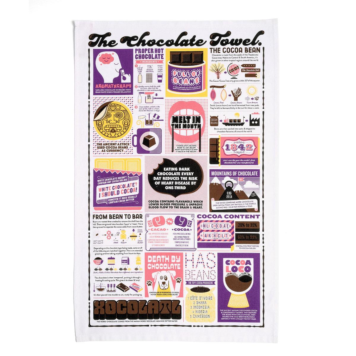 Stuart Gardiner Design Chocolate Tea Towel