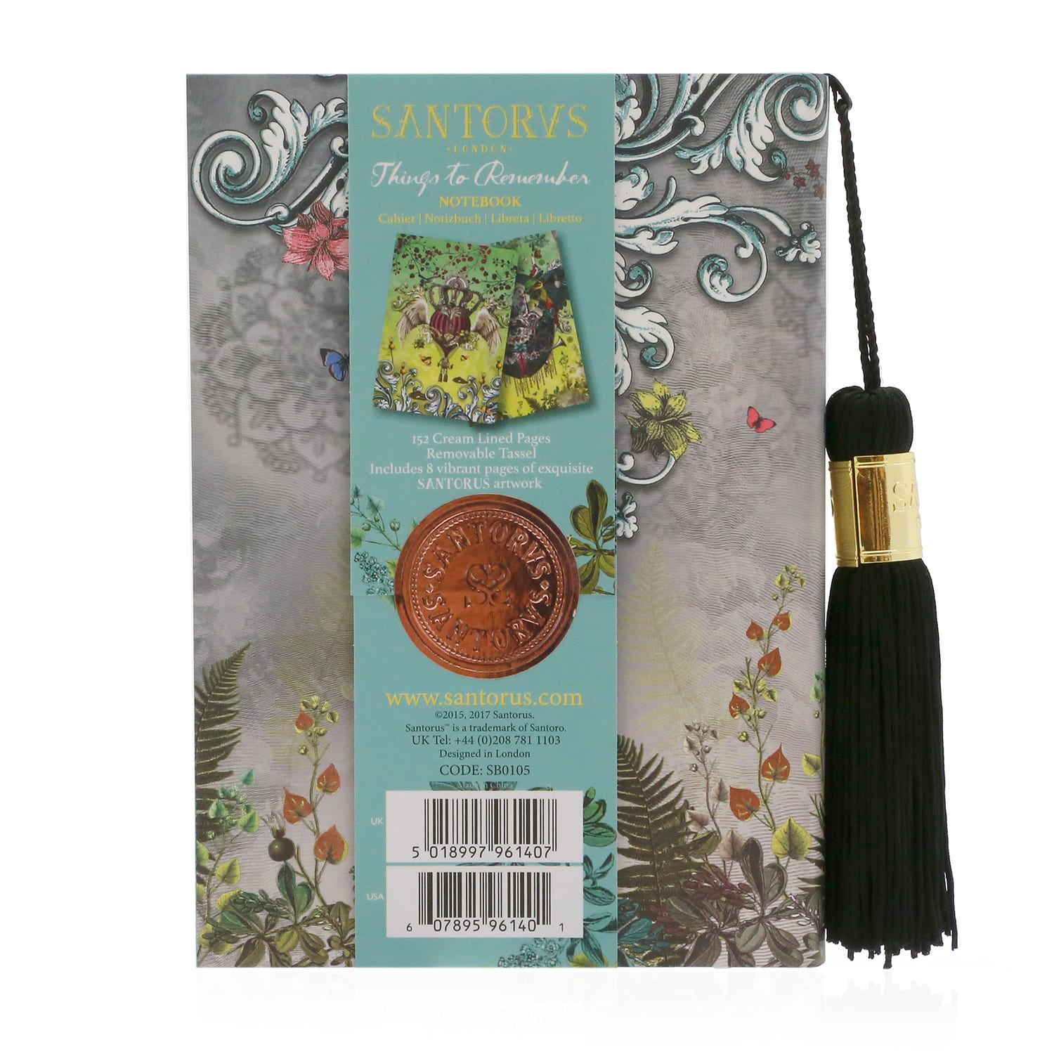 Santorus 'Things to Remember' Elephant Notebook With Extra Large Tassel