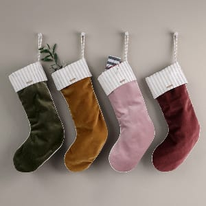 Ferm Living Velvet Christmas Stockings