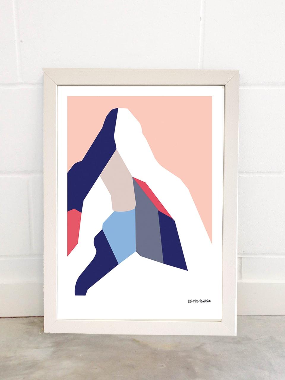East End Prints  Pic Du Lacblanc A3 Unframed Print