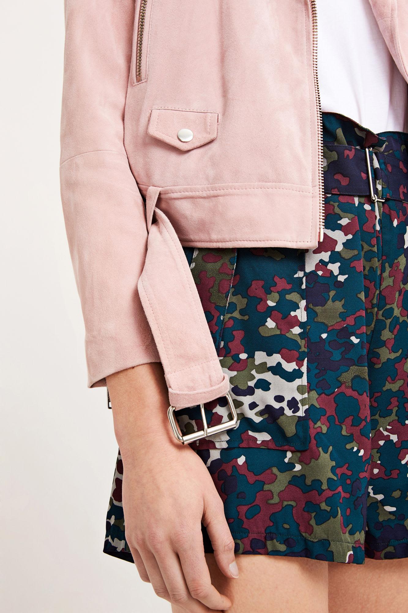 SamsoeSamsoe Woodrose Pink Ebba Suede Jacket
