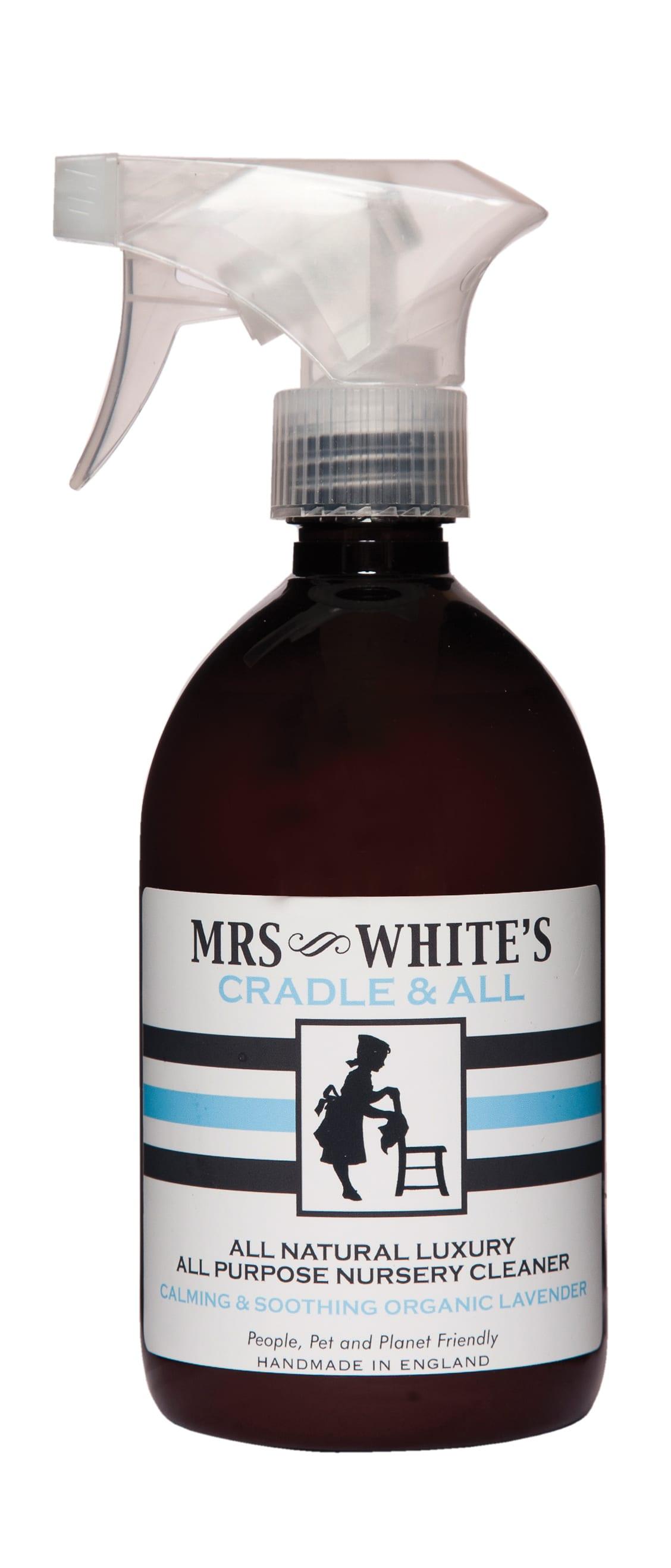 Mrs White's  Cradle & All Natural Nursery Cleaner and Sanitiser 500ml