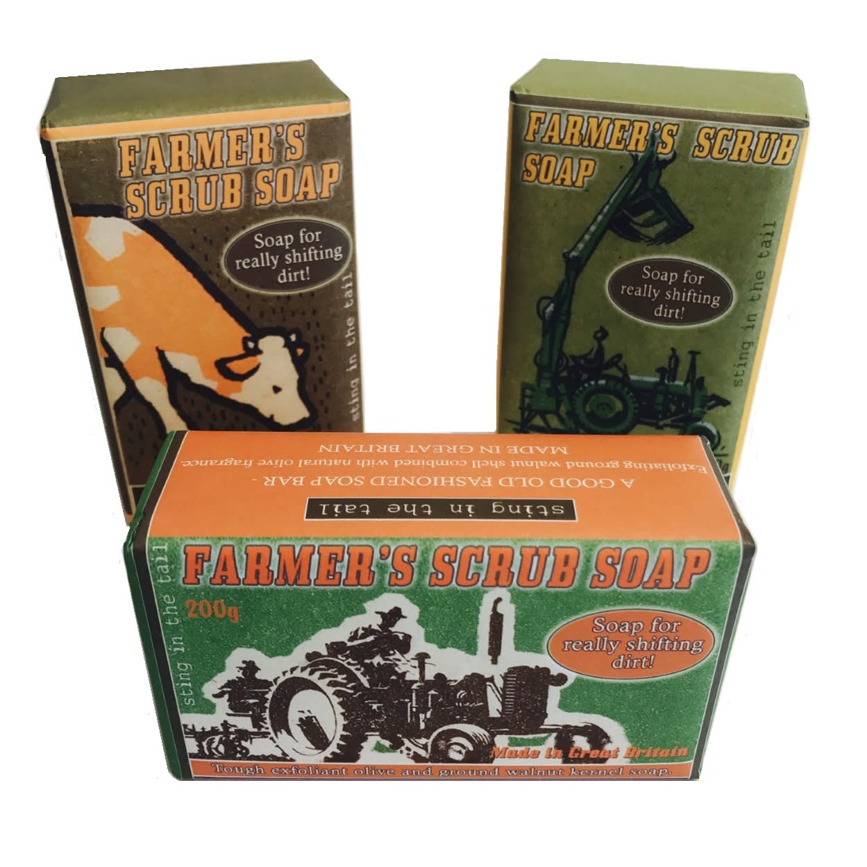 Sting In The Tail Olive & Walnut Farmer's Combine Harvester Exfoliating Bar