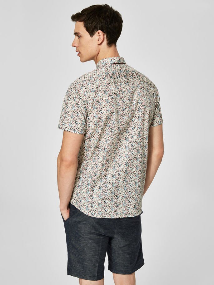 Selected Homme One Print Button Up Shirt