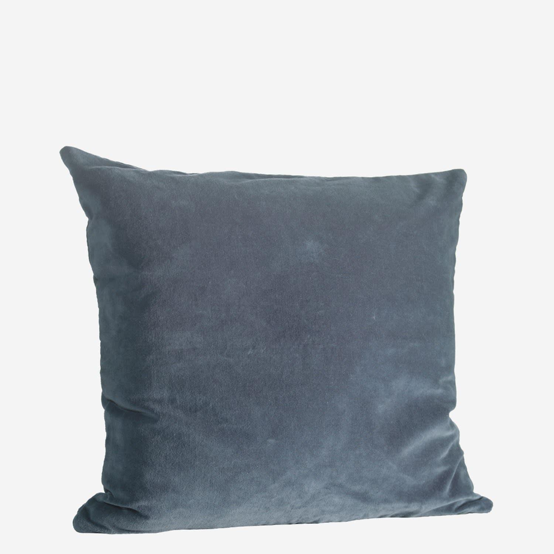 Madam Stoltz Dark Blue Velvet Cushion
