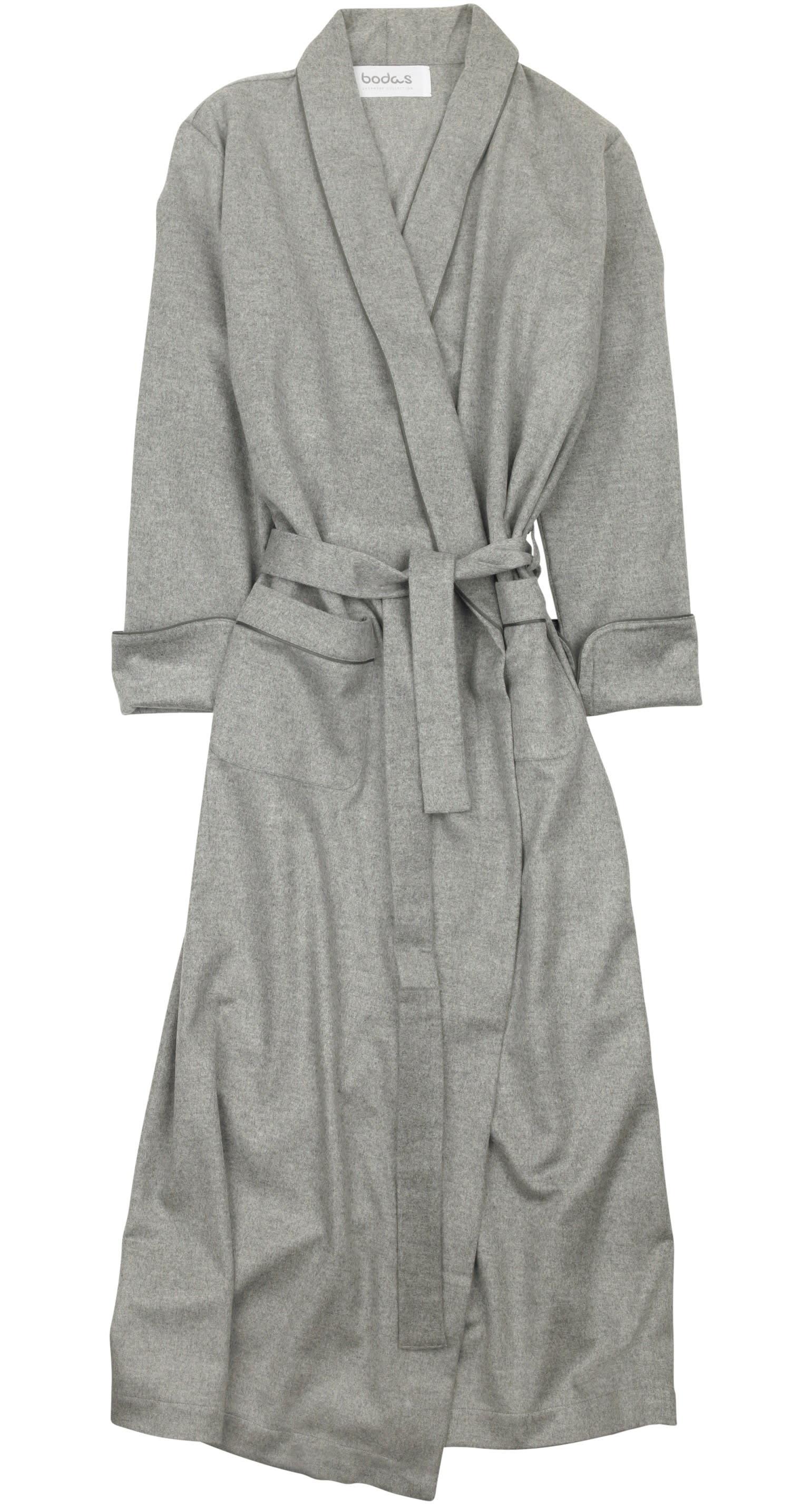 Bodas Grey Cashmere Robe