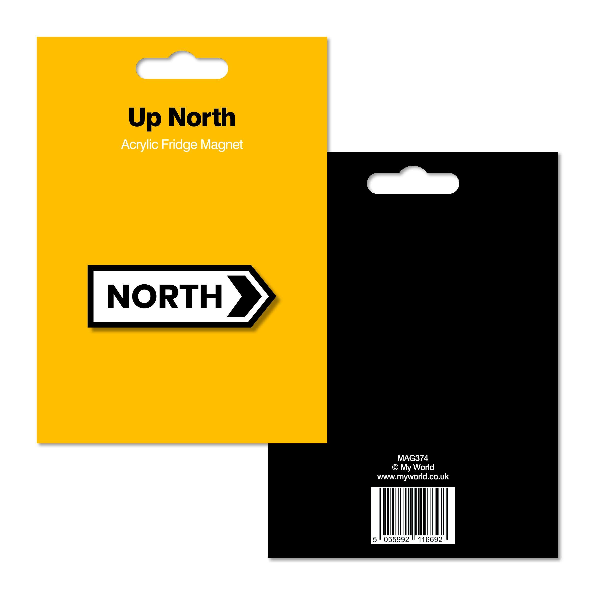 My World Publishing North Sign Acrylic Magnet