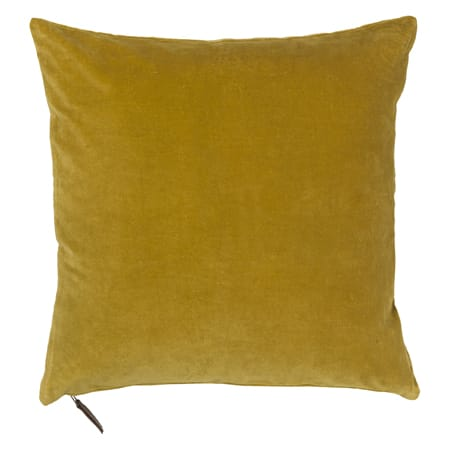 Cozy Living Curry Mustard Yellow Velvet Cushion