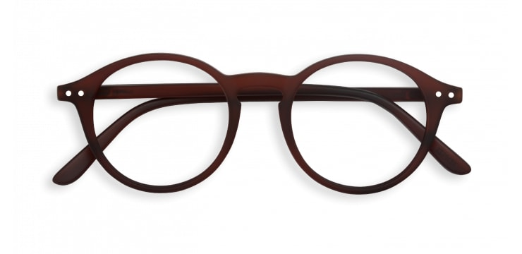 IZIPIZI Reading Glasses in Dark Wood (Frame Shape: #D)