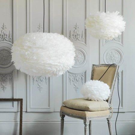 UMAGE Medium White Eos Feather Pendant Shade