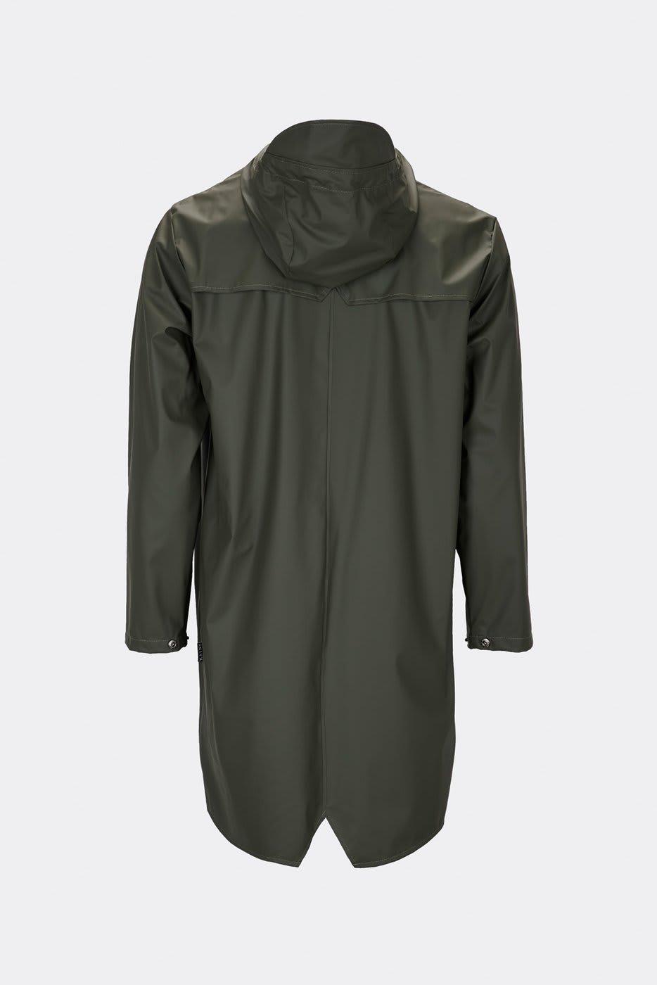 Rains Green Long Jacket
