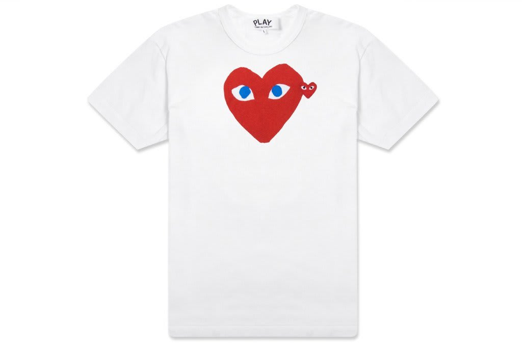 Comme Des Garcons Play Red T-Shirt with Blue Eyes