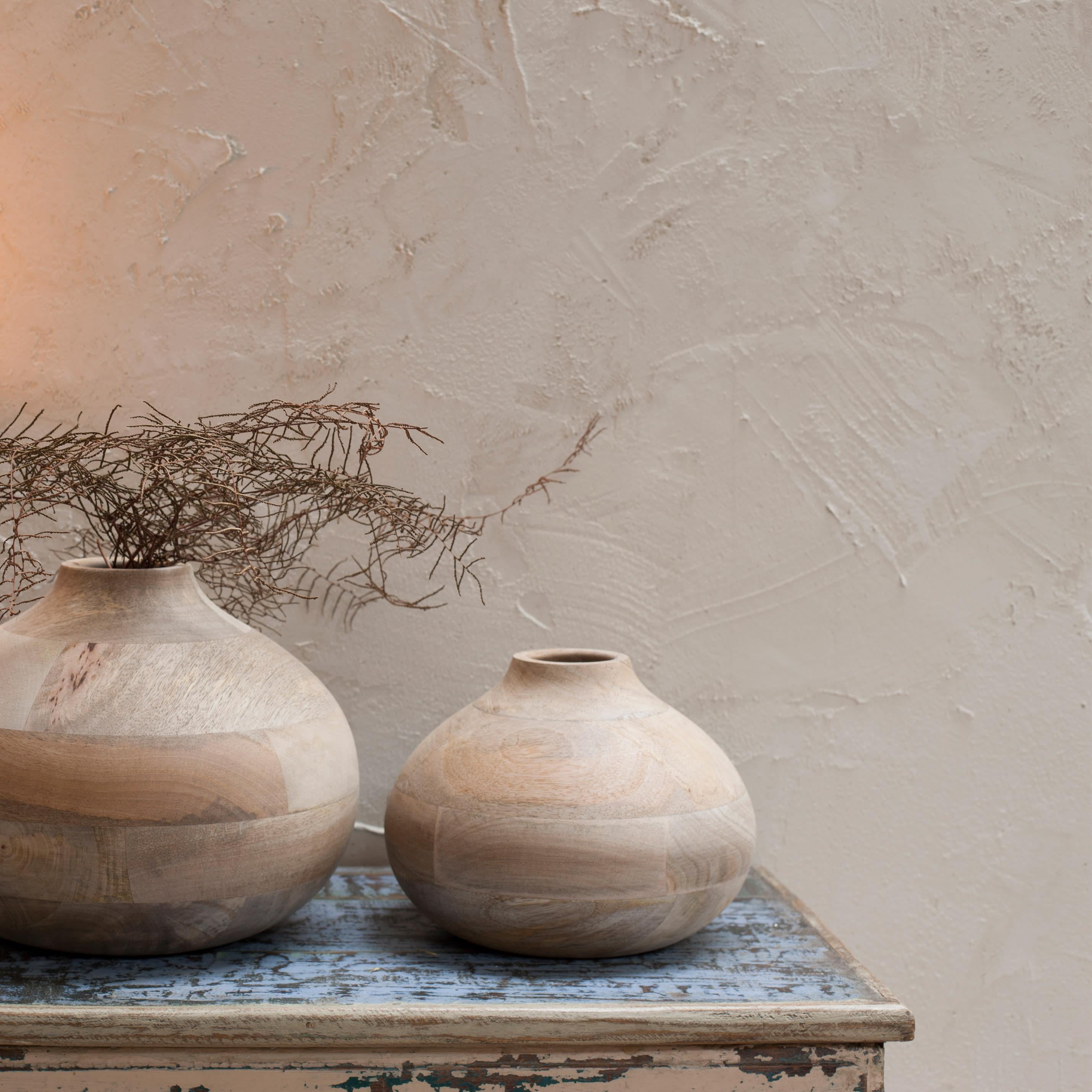 Nkuku Batwa Mango Wood Vase