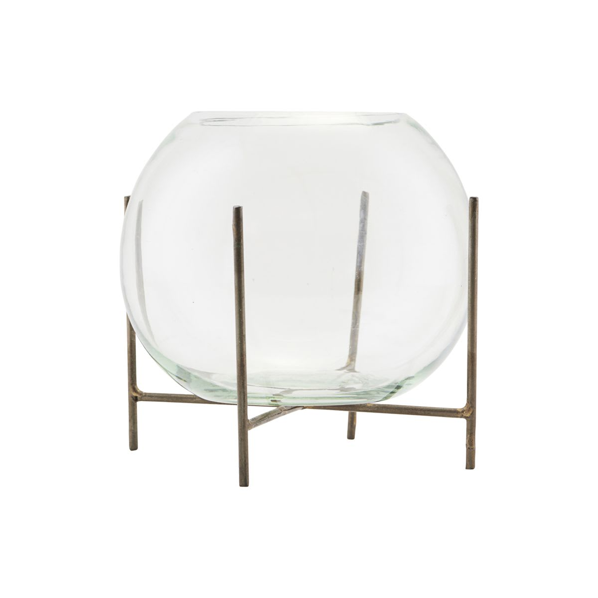 House Doctor Glass Ada Vase & Stand Medium