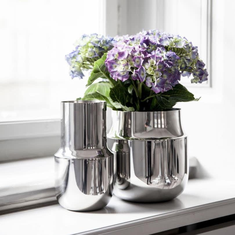 Menu Tall Stainless Steel Tactile Vase