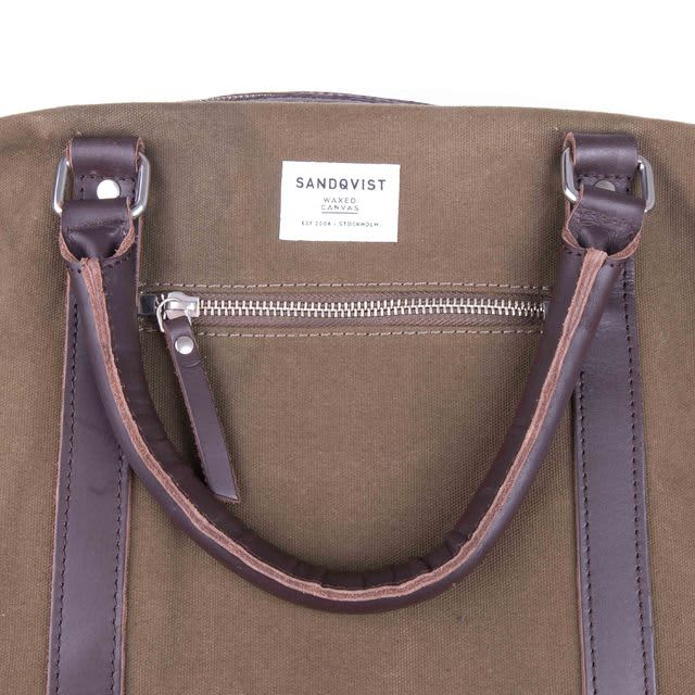 be2e05c68504 Sandqvist Waxed Olive Jordan Weekend Bag