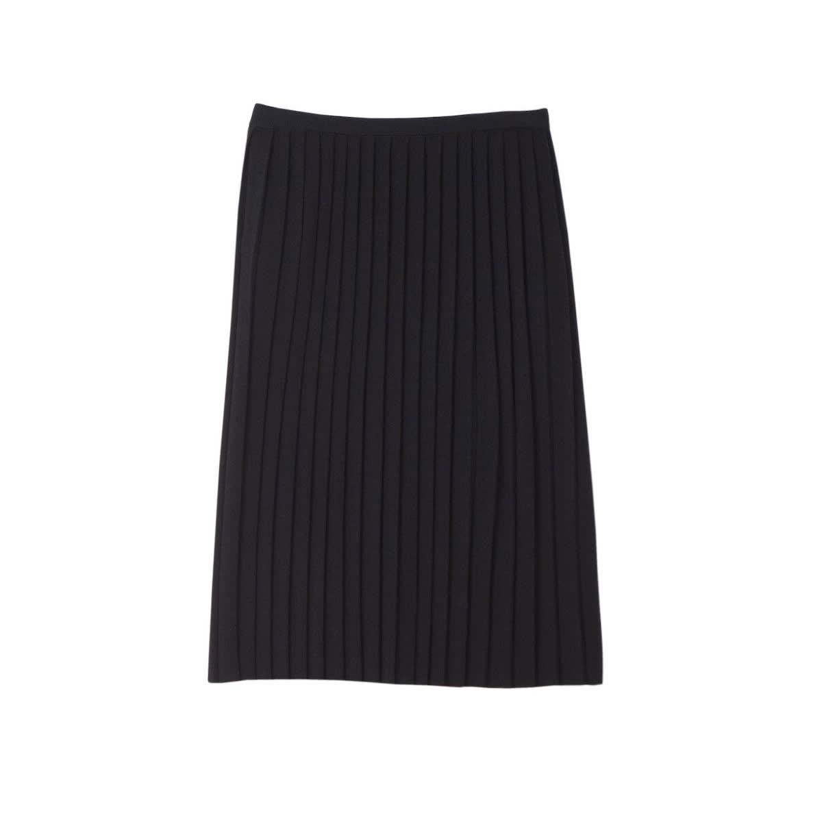 Black Cait Pleated Skirt
