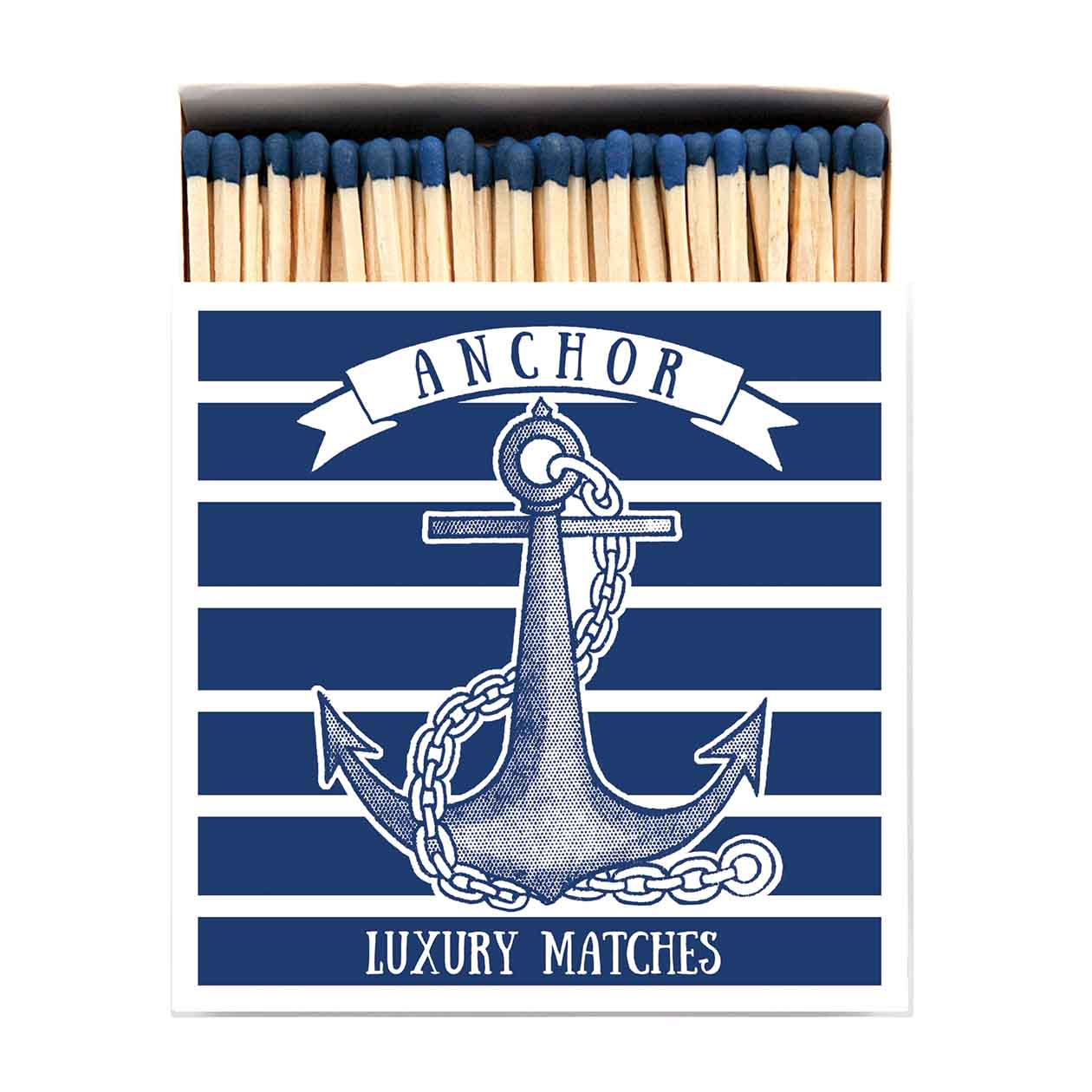 Archivist Anchor Long Luxury Matches In A Square Box