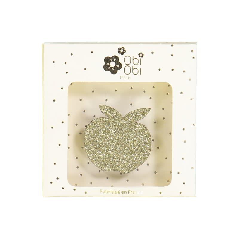OBI OBI Gold Apple Brooch
