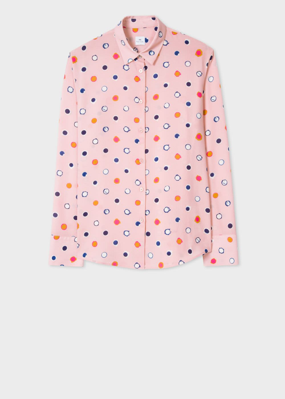 PS by Paul Smith Pale Pink Scribble Spot Shirt