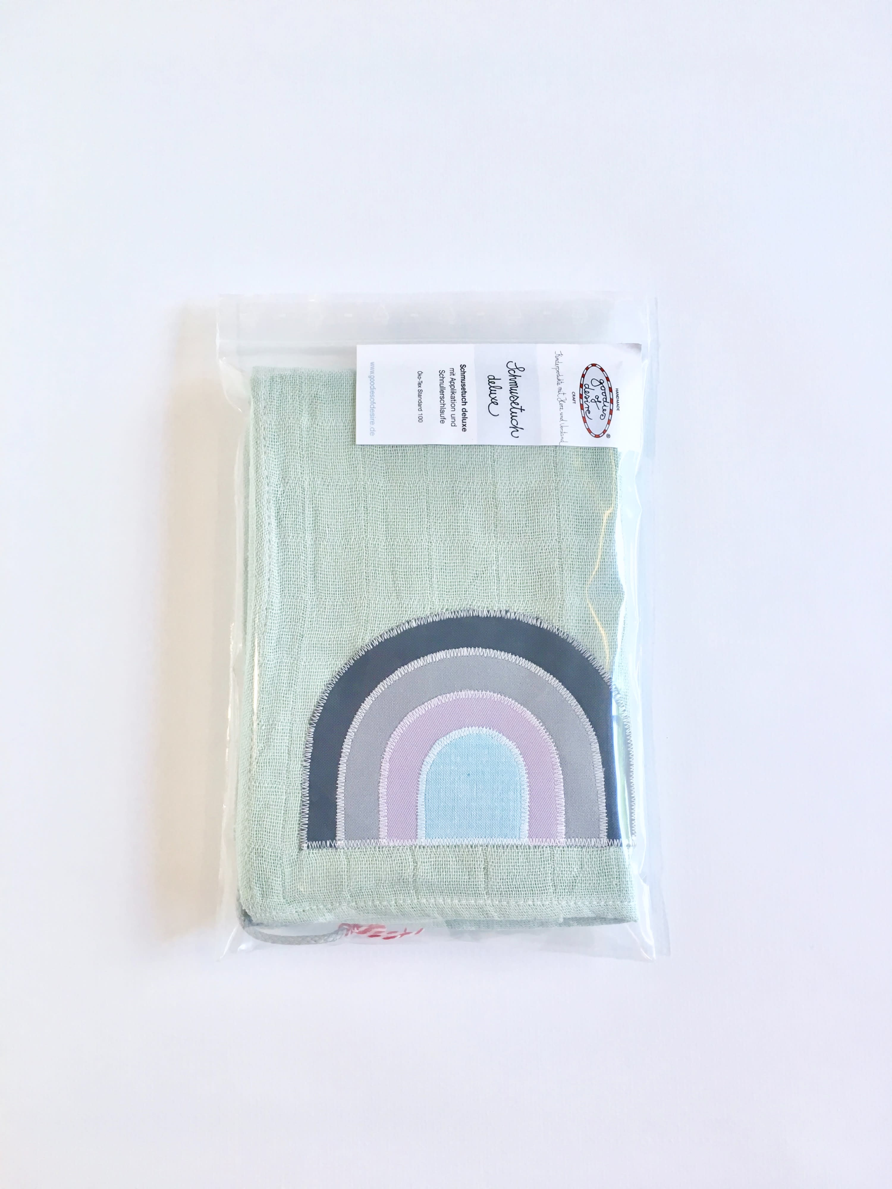 Goodies of desire Rainbow Green Schmusetuch  Deluxe Swaddle