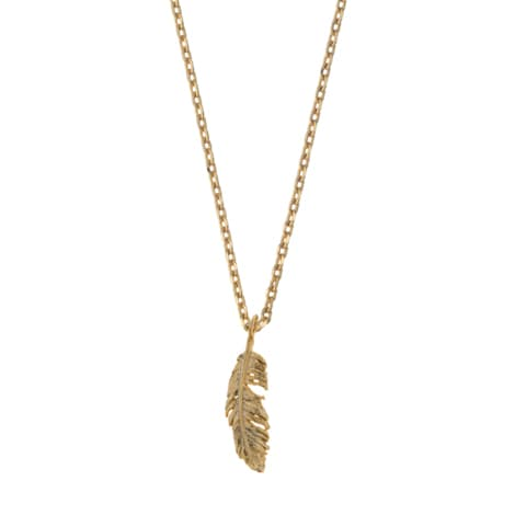 Estella Bartlett  Feather Gold Necklace