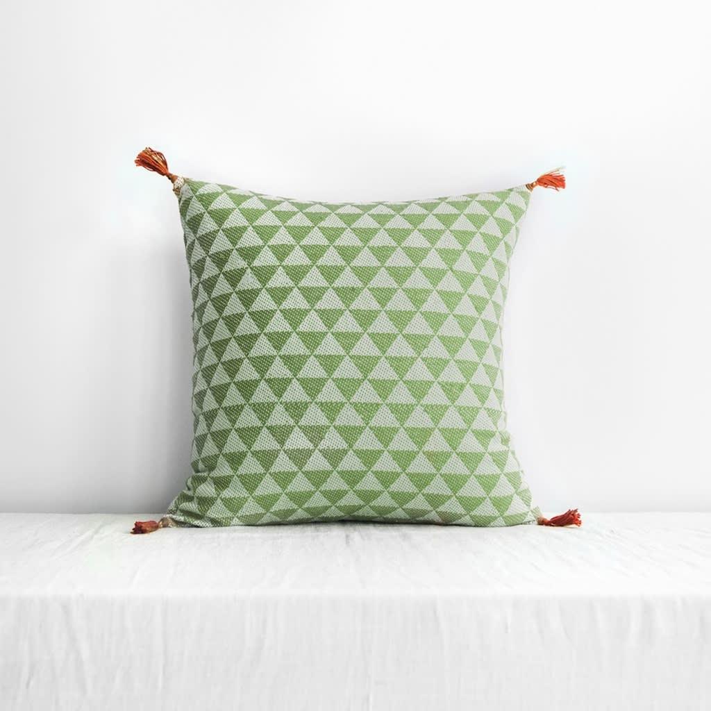 Jamini Khaki 16x16 Alice Pillowcase